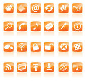 Oranje web iconen — Stockvector