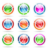 Orbit icons — Stock Vector