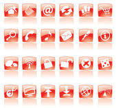Red web icons — Stock Vector
