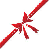 Red ribbon — Vector de stock