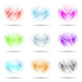 Vibrant, transparent, spheres — Stock Vector