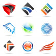 Various colorful abstract icons, set 1 — Stock Vector