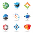 Various colorful abstract icons, Set 18 — Stock Vector