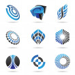 Royalty-Free Stock Vector Image: Various blue abstract icons, Set 3