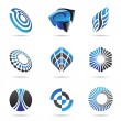 Stock Vector: Various blue abstract icons, Set 3