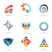 各种色彩鲜艳的抽象图标,设置 5 — 图库矢量图片