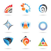 Various colorful abstract icons, Set 5 — Stock Vector