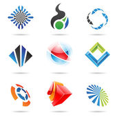 Abstract Icon Set 2 — Stock Vector