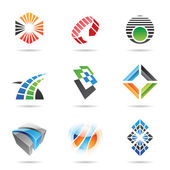 Various colorful abstract icons, Set 8 — Stock Vector