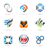 Various colorful abstract icons, Set 9 — Stock Vector