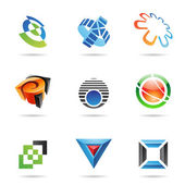 Various colorful abstract icons, Set 10 — Stock Vector