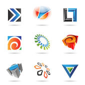 Various colorful abstract icons, Set 12 — Stock Vector