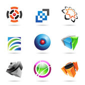 Various colorful abstract icons, Set 14 — Vector de stock