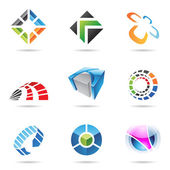 Various colorful abstract icons, Set 15 — Stock Vector
