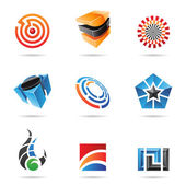 Various colorful abstract icons, Set 16 — Stock Vector