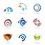 各种色彩鲜艳的抽象图标,设置 19 — 图库矢量图片