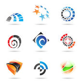 Various colorful abstract icons, Set 19 — Stock Vector