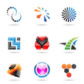 Various colorful abstract icons, Set 21 — Stock Vector