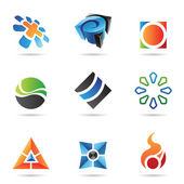 Various colorful abstract icons, Set 22 — Stock Vector