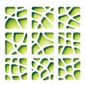 Recortes de papel verde — Vector de stock