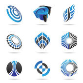 Various blue abstract icons, Set 3 — Stock Vector