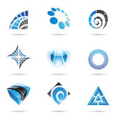 Various blue abstract icons, Set 5 — Stock Vector