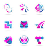 Abstract blue and purple Icon Set 21 — Stock Vector