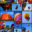 Collection of hot air balloons - Stock Photo