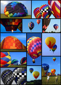 Collection of hot air balloons — Stock Photo