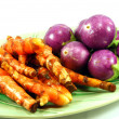 Thai purple eggplant and Turmeric — Stock Photo #3893166
