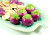 Thai purple eggplant — Stock Photo