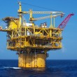 A deep-water floating oil platform - Stockfoto