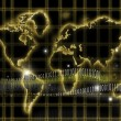 Royalty-Free Stock Photo: Internet-world map