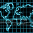 Internet-world map — Stock Photo