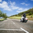 Landscape and motorist - Stock Photo