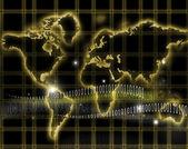 Internet-world map — Stock Photo
