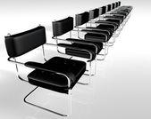 Black chairs — Stock Photo