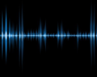 Blue wave of sound