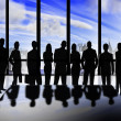 Business silhouettes — Stock Photo