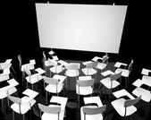 Leer schwarz Klassenzimmer — Stockfoto