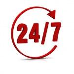 24/7 symbol — Stockfoto #3906596