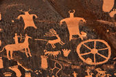 Ancient Indian Petroglyph — Foto Stock
