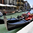 Góndolas en Venecia — Stock Photo