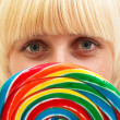 Girl with lollipop — Stock Photo #3875585