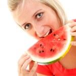 Watermelon girl — Stock Photo
