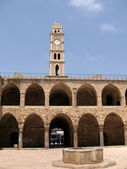 Akko Khan al Omdan Clock Tower 2008 — Stock Photo