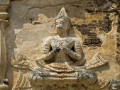 Goddess in wat chedi chet yot — Stock Photo