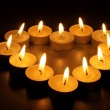 Stock Photo: Heart from candles