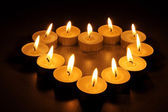 Heart from candles — Stock Photo