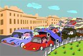 Road incident — Stock Vector